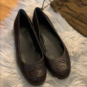 Gucci leather ballet flats - size 37
